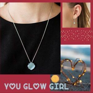 You Glow Girl Blue Moonstone Necklace Set